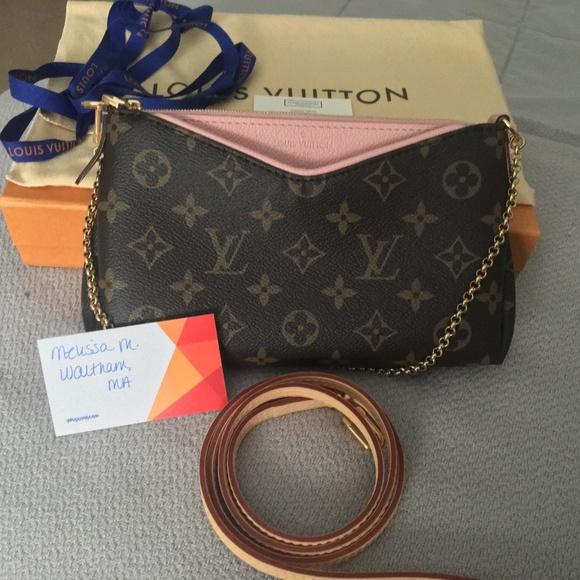 6c0a97a970df Authentic Louis Vuitton Pallas Clutch Rose Poudre.  M 5a3fd0323a112e342d0093a1. Other Bags ...